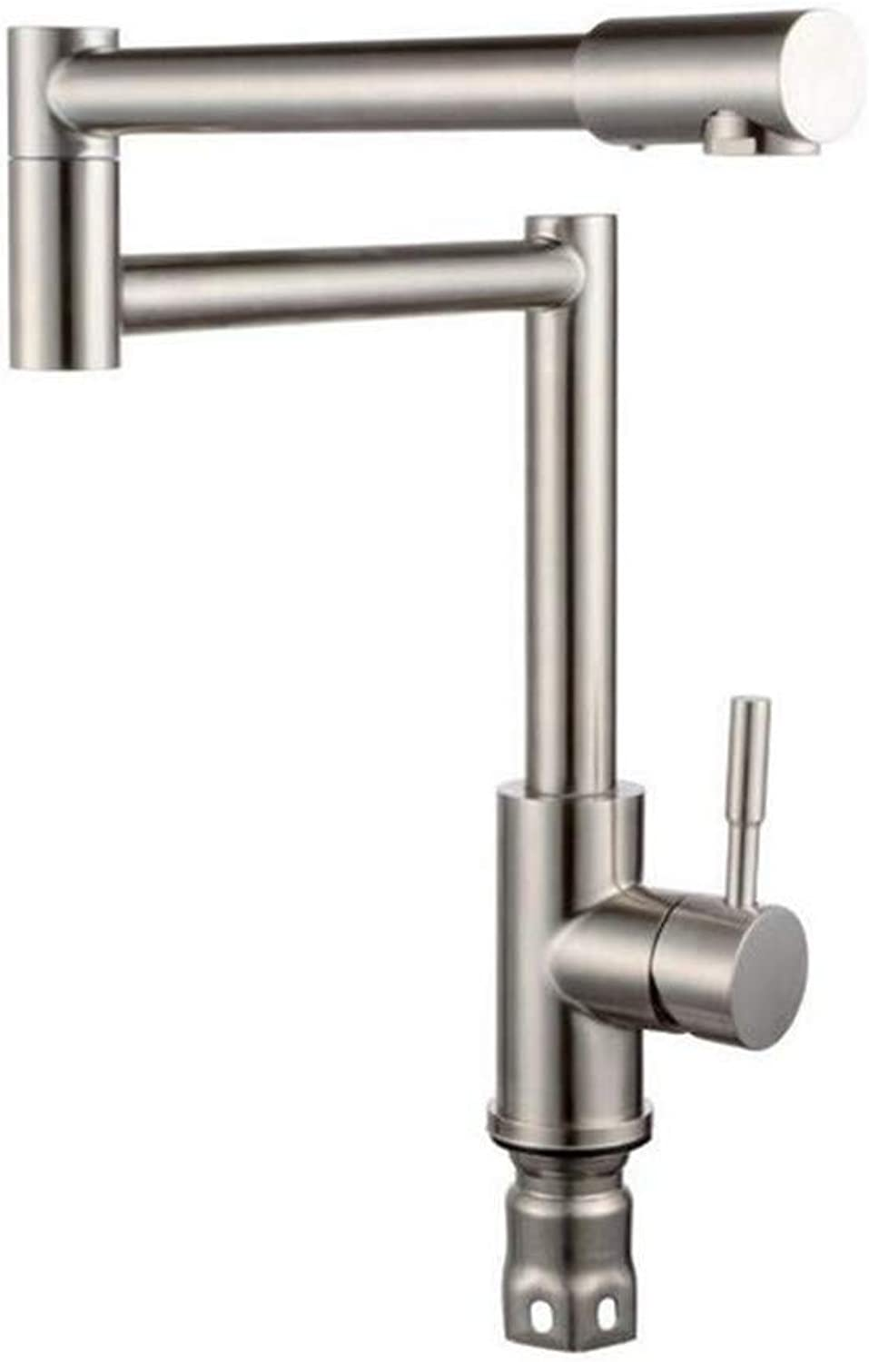 Chrome Kitchen Sink Tapwith Hot and Cold 304 Stainless Steel Fittings for Kitchen Sink Ceramic Disc Valves Sink Tap