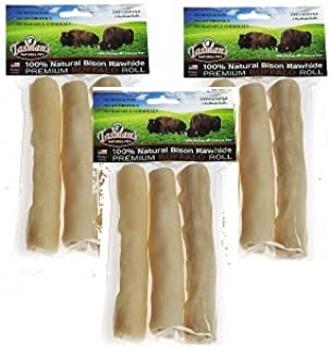 5-Inch 10-Pack Tasmans Bison Rawhide Peggable Small Twisters