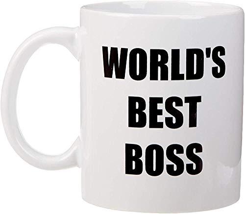 Taza de café de cerámica del jefe de la oficina del mejor jefe del mundo