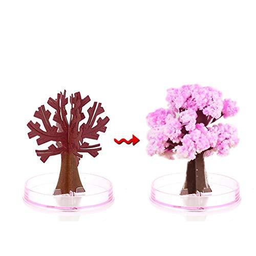 sunnymi Kirschbaum Papierbaumblüte Blühender Weihnachtsbaum Papier Baum Magie Wachsende Baum Spielzeug Jungen Mädchen Neuheit Weihnachts Geschenk