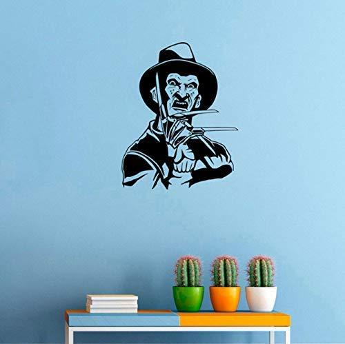 Freddy Krueger Wandaufkleber Nightmare On Elm Street Horrorfilm Vinyl Aufkleber Home Room Decor Wasserdichtes Wandbild 42 * 53Cm