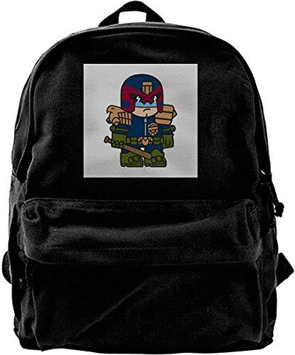 Yuanmeiju Mochila de Lona Judge Dredd de tamaño reducido Mochila para Gimnasio Senderismo Bolsa de Hombro para computadora portátil Mochila para Hombres y Mujeres
