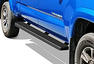 APS iBoard Running Boards 5in Black Compatible with Toyota Tacoma 2005-2021 Double Crew Cab (Nerf Bars Side Steps Side Bars)