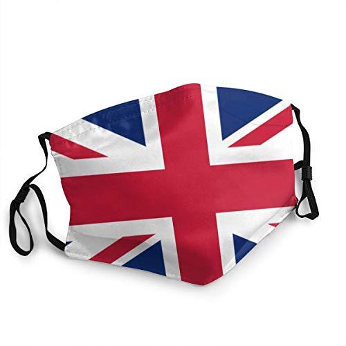 AYGoUP Gesichtsschutz Mundschutz Britische Flagge Großbritannien Englisch England Wiederverwendbarer Nasenschutz Waschbar staubdicht gegen Verschmutzung