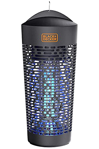 BLACK+DECKER Outdoor Electric UV & Killer for Flies, Mosquitoes, Gnats & Other Small to Large Flying Pests Half Acre Coverage for Home, Deck, Garden, Patio, Camping & More