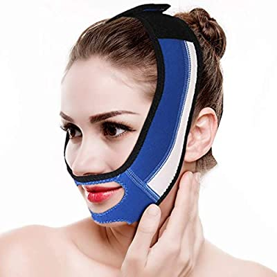 Face Slimming Cheek Mask, Face Slim Lifting Up Tighten Skin Bandage Double Chin Remove Mouth Relaxation Pulling Strap Belt for Sleeping
