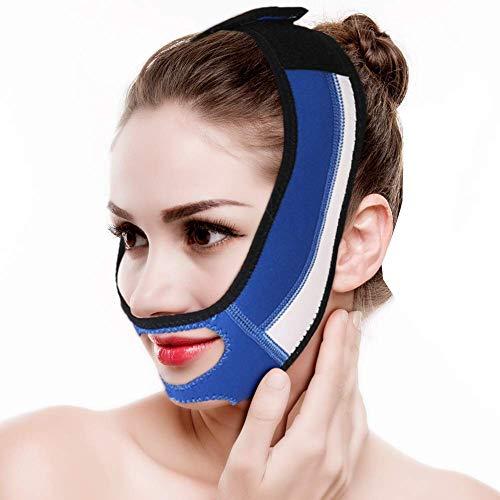 Mascarilla de adelgazamiento facial, delgada, para levantamiento de la cara, apretar la piel, doble barbilla, quitar la boca, relajación, tirar de la correa para dormir