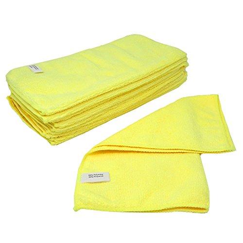 SBS Mikrofasertücher | 40 x 40 cm | 10 Stück | gelb | Microfasertuch Mikrofaser Tuch Microfasertüche