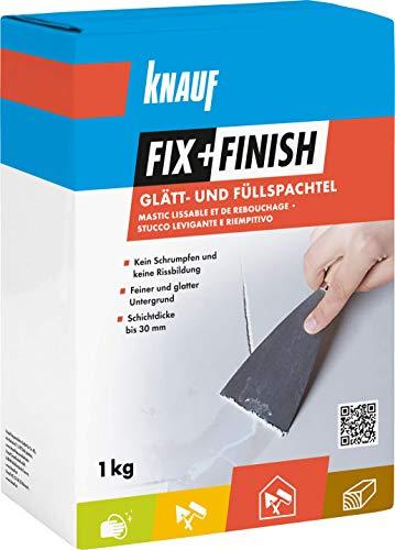 Knauf 593772 Fix+Finish Glätt- & Füllspachtel weiß 1 kg