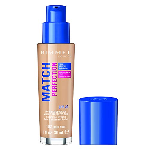 Rimmel London Match Perfection Foundation Base de Maquillaje Tono 102 Light Nude - 123 gr