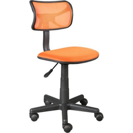 Urban Shop Swivel Mesh Chair | Adjustable Lever for Varying Heights (Orange) (Orange)