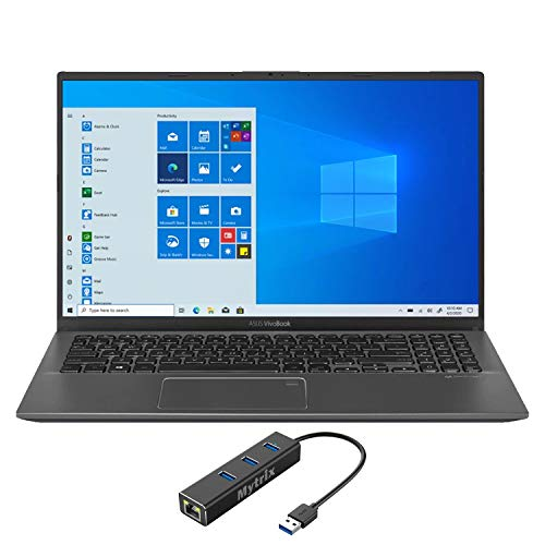 ASUS_VivoBook 15.6' FHD Touchscreen Laptop, 1080p NanoEdge, Inetl Core i5-1035G1 Quad-Core, 12GB RAM, 512GB SSD+1TB HDD, USB-C, FP Reader, Webcam, KeyPad, Mytrix Ethernet Hub, Win 10