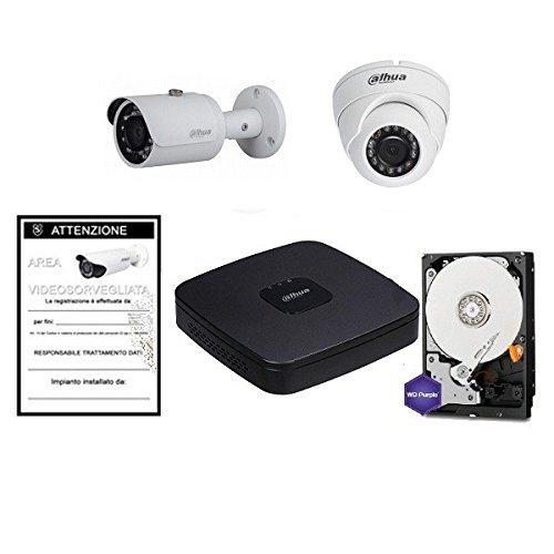 Kit Videosorveglianza 4 Canali IP PoE + HD + Cam Megapixel - Dahua