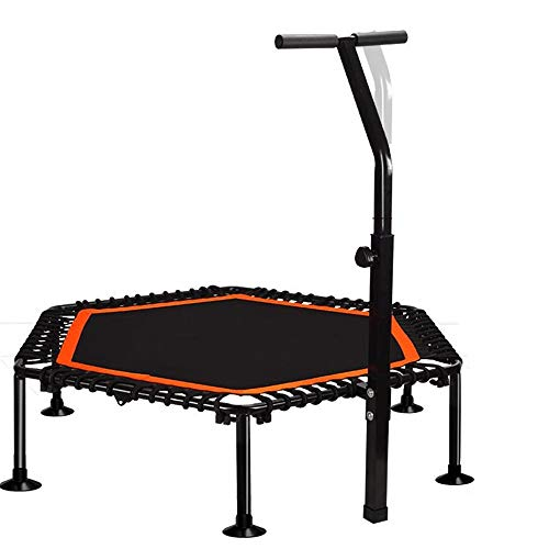 Cxraiy-SP Trampoline Sport Trampoline With Stable Handle Bar And Rope Suspension For Maximum Safety (Color : Orange, Size : 45 inches)
