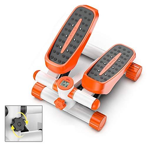 Qazxsw Stepper/Home-Use-Weight Loss Artifact/Dünnes Fußpedal/Klein Sport Fitnessgeräte/Abnehmen Stepping Mountaineering,Orange,30 * 43 * 20cm