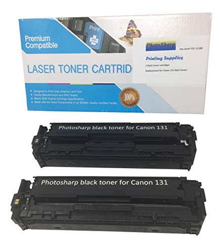 2 Compatible Cannon ImageClass MF8280CW Black Ink Toner Cartridge Replacement for Canon 131 for Image-Class MF-8280CW Multifunction All-in-One Color Laser Printer