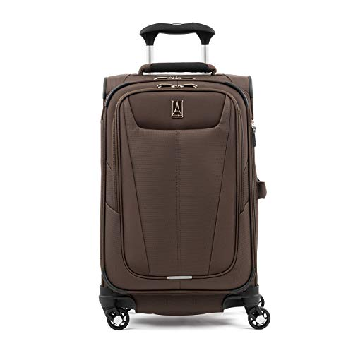 Travelpro Maxlite 5-Softside Expandable Spinner Wheel Luggage, Mocha, Carry-On 21-Inch