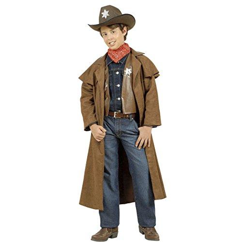 Sheriff Kostüm Kinder Cowboykostüm 140 cm 8-10 Jahre Cowboy Westernkostüm Wild West Sheriffkostüm Western Kopfgeldjäger Kinderkostüm Wilder Westen Revolverheld Faschingskostüm Karneval Kostüme Jungen