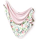 GRSSDER Baby Blankets Super Soft Jersey Knit Swaddle Blanket for Baby Girls and Boys, Double Layer Receiving Blankets 34 x 44 Extra Large for Baby Show Gift,Pink Rose