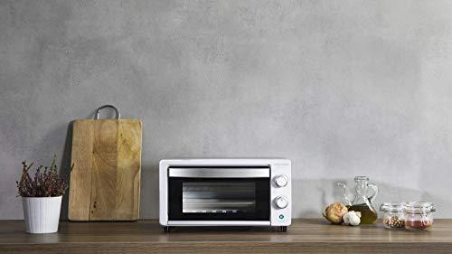 Cecotec Horno Conveccion Sobremesa Bake&Toast 490. Capacidad de 10 litros, 1000 W, Temperatura hasta 230ºC y Tiempo hasta 60 Minutos, Perfecto para Panini y Bollería, Incluye Bandeja Recogemigas