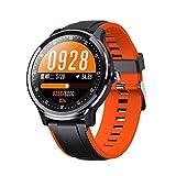 ZHEBEI Deportes reloj inteligente de los hombres personalizado dial de fitness tracker pantalla táctil completa IP68 impermeable Naranja