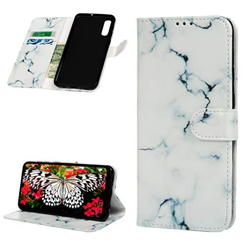 ToneSun Funda de piel para Samsung Galaxy A50, funda con tapa estilo cartera: pintada multifunción, funda de cartera – fumar