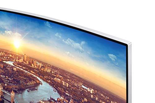 Samsung C34J791WTU Ecran Ordinateur VA Incurvé de 34'' Ultra Large en Résolution UWQHD (3440 x 1440, Connectique Thunderbolt 3, 4ms, Compatible Apple Mac Book, Imac