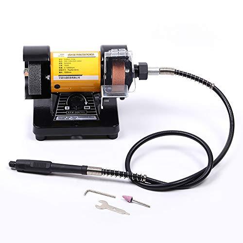 Rectificadora Eléctrica de 220V con Eje Flexible de Metal, Mesa Multifuncional, Micro Amoladora, Pulidora de Grabado de Jade 150W