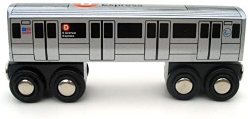 Munipals Wooden Railway NYC Subway Car D Train by Munipals