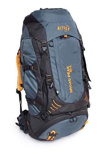 ALTUS Broad Peak 65+5 - Mochila, Unisex, Color Gris/Negro, Talla única