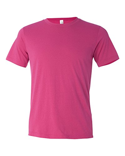 Bella Canvas Poly-Cotton Short-Sleeve T-Shirt (3650) Berry, 2XL
