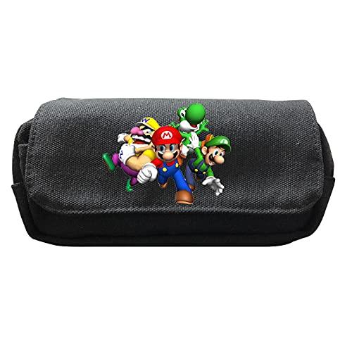 Estuche Mario Spot Game Super Mario serie periférica Estuche de lona de doble capa para estudiantes
