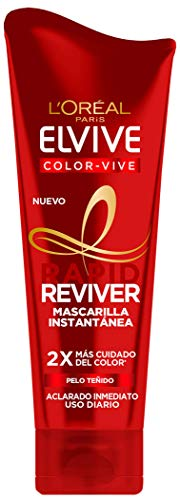 L'Oréal Paris Elvive Color Vive Rapid Reviver, Mascarilla Instantánea para Pelo Teñido, 180 ml