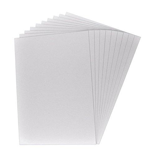 25 x encuadernador cartón, cartón para manualidades, cartón, cartón presentación, grosor de la cartón: 0,1 cm/1 mm, color: gris-marrón, formato A4