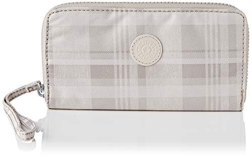 Kipling - Wallet da donna Imali, 1 x 19 x 10 cm, Rosa (Morbida plaid.), 1x19x10 cm (LxWxH)