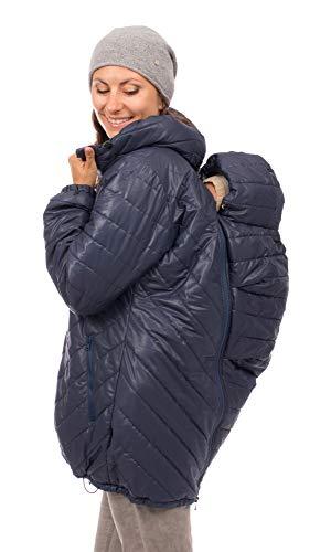 Viva la Mama - Winterjacke mit Trageeinsatz Babytragejacke warm Winterumstandsjacke Polarjacke Damen Tragemantel - PATAGON - eisblau - M
