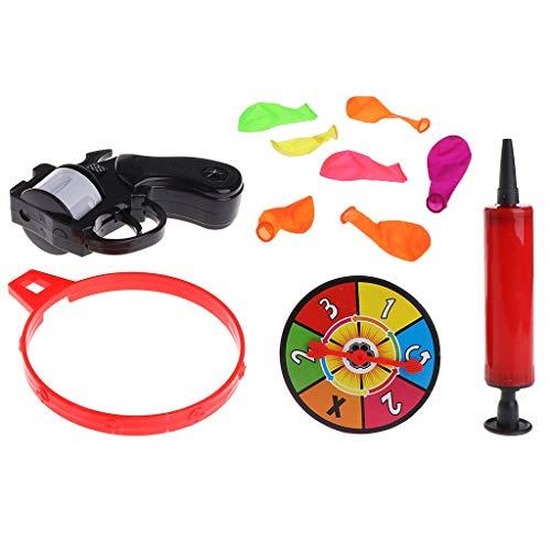 PULABO modelo de ruleta rusa pistola globo pistola explosión partido juego divertido juguete truco regalo durable y práctico