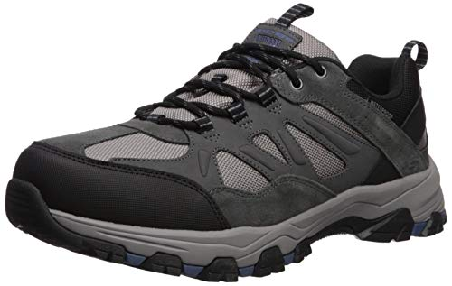 Skechers Men's SELMEN-ENAGO Trail Oxford Hiking Shoe, Grey, 9.5 Medium US