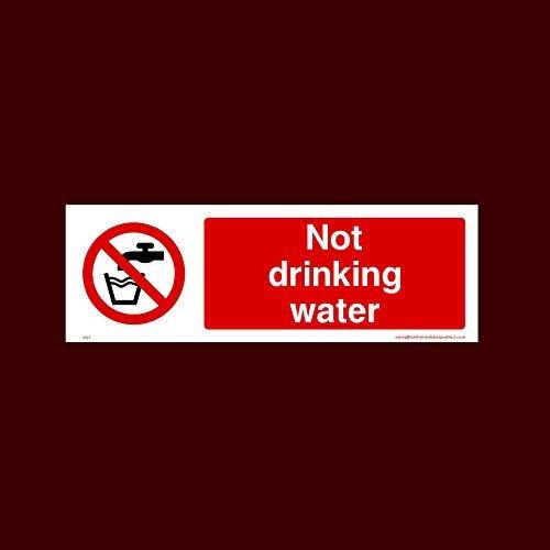 Pegatinas de vinilo autoadhesivas para señal de agua no potable (Pg1) calcomanías divertidas de advertencia para propiedades, etiquetas adhesivas de seguridad, calcomanía de vinilo autoadhesiva