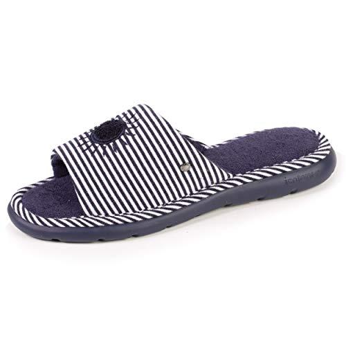 Isotoner - Zapatillas para mujer, (rayas), 39 EU