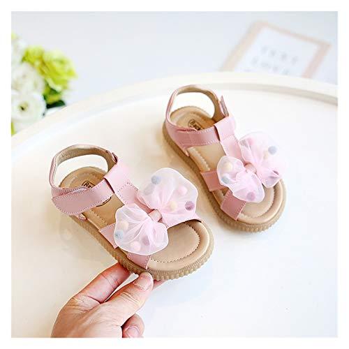 HUKN Niñas Verano Hueco Retro Sandalias niños Sandalias de Playa niños Princesa Zapatos Blandos Microfibra Vaca músculo Suela Zapatos Casual 2021 (Color : E32520 Pink, Shoe Size : 32)