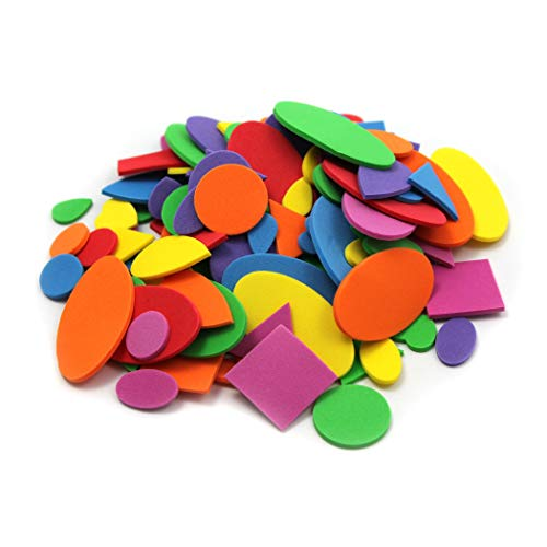 Creative Arts by Charles Leonard Foam Shapes, Assorted Colors, 264 Pieces/Bag (70526)