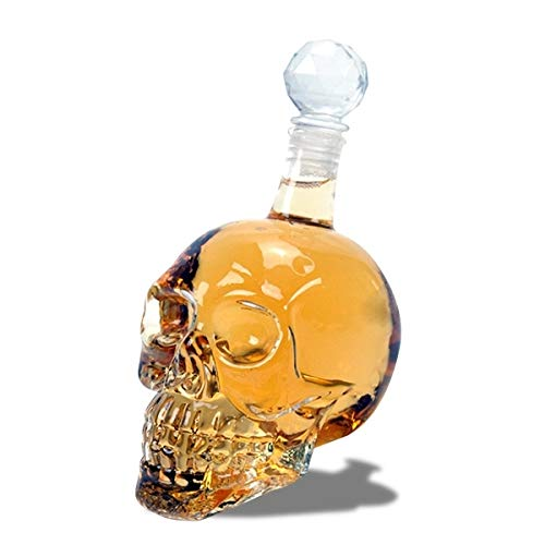 Eurrowebb Bouteille Crystal Whisky en tête de Mort 500ml Conservation Alcool