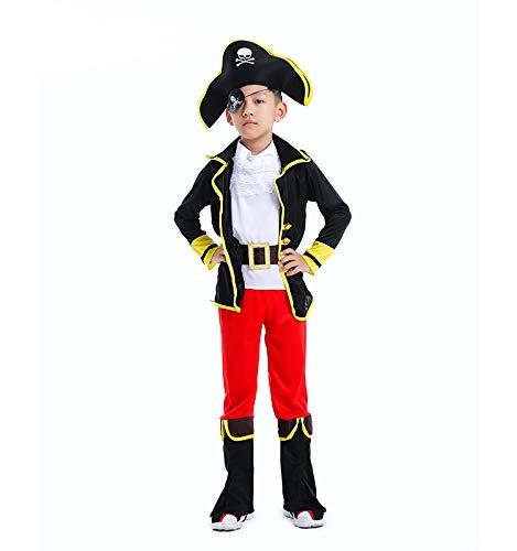 N / A Cosplay Halloween Novedad Regalo actuacin Disfraz Pirata nios Disfraz Navidad Body Height:120-135cm