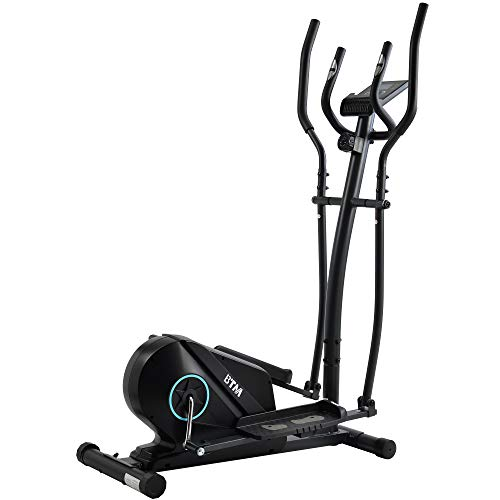 ZOEON Elliptical Cross Trainer, Cardio Workout with 8 Level Magnetic Resistance, LCD Monitor and Pulse Rate Grips, Console Display with Heart Rate Sensor Crosstrainer Machine for Home