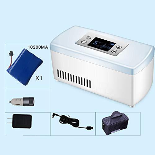 YPBX Mini-InsulinküHler, Medizin-Aufbewahrungsbox Mit GroßEr KapazitäT, Medizinischer KüHlschrank, Batteriebetrieben, Auto, Reise, Camping