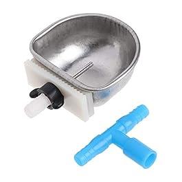 ETbotu Pet water drinker,Water Dispenser – Pet Rabbit Chew Resistant Drinker Water Feeder Fix Bowl Drinking Box T Joint Equipment