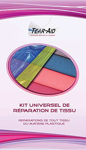 TEAR-AID Kit Universel de réparation instantanée et sans Colle de Tissus (Coton, Nylon, etc.) et des Articles en PVC/Vinyle ou enduits de PVC ou de Vinyle