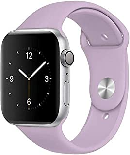 For apple watch band 42/44 silicone light purple