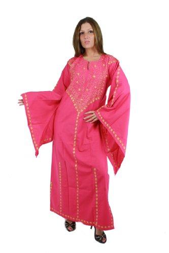 Egypt Bazar Egypt Bazar Romantischer Kaftan im 70er-Jahre-Look, Größe: S (36-38), pink